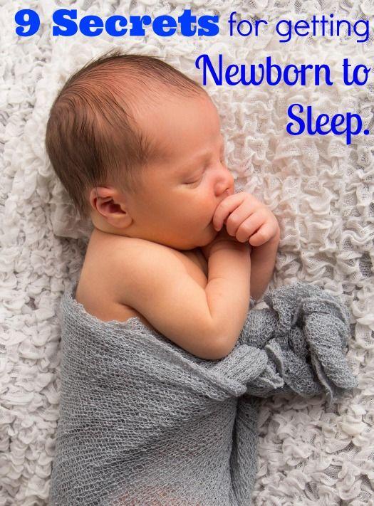 9 Secrets for getting Newborn to Sleep. http://www.nodietsallowed.com/get-newborn-sleep-night/ #sleep #helpbabysleep #newborn