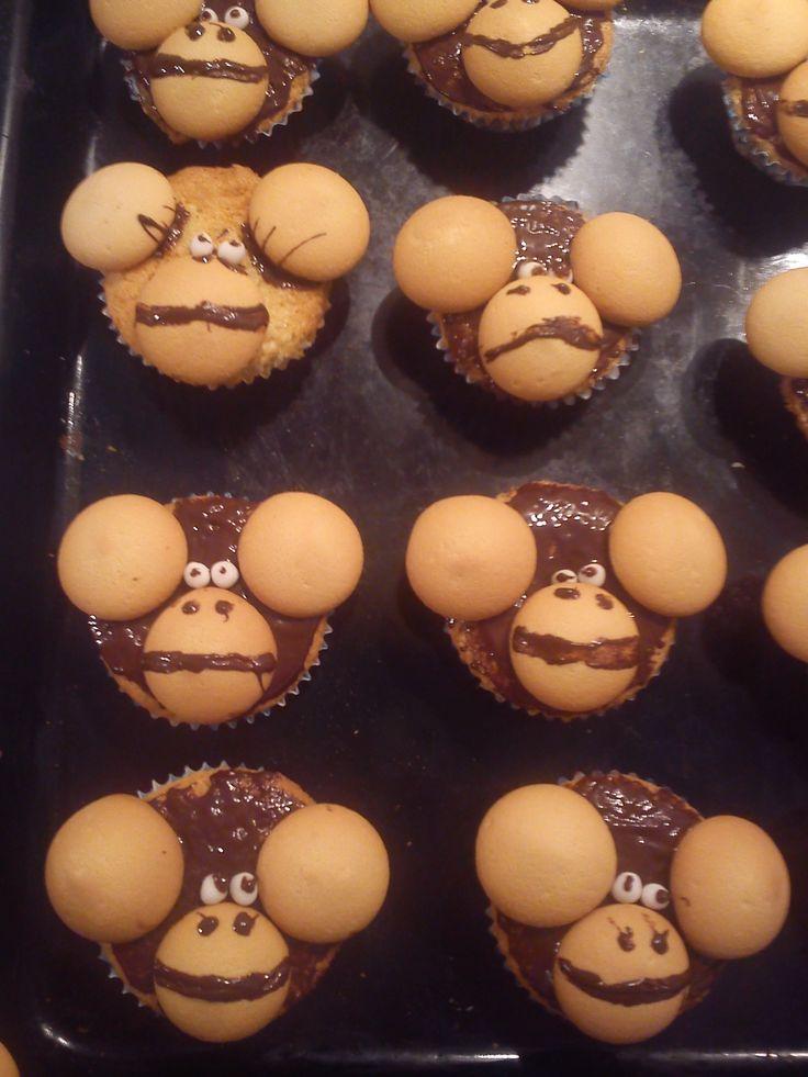opičky - muffiny