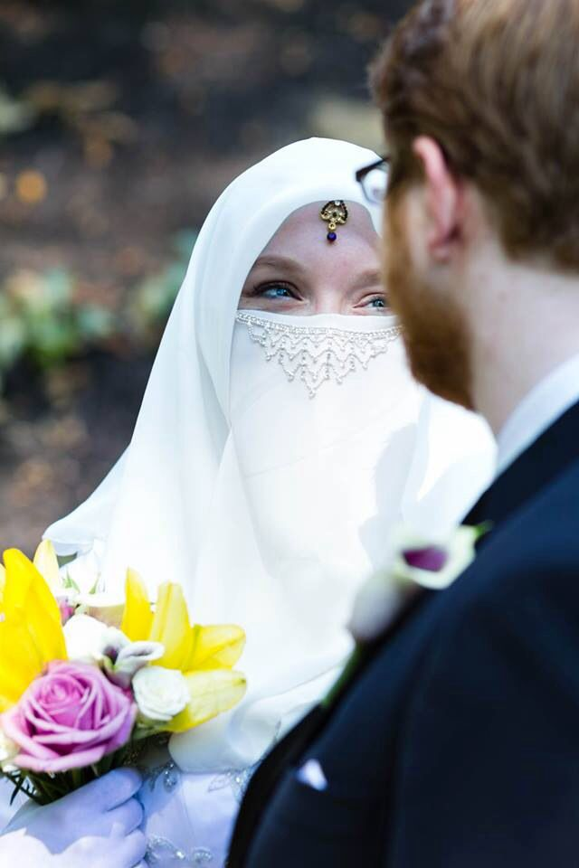 Credit to Psalms 48 Photography! This was my favorite photo of our wedding day. I loved wearing Niqab!