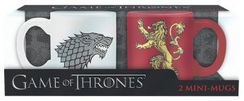 Stark & Lannister - Set Espressokopjes - Mokken set van Game Of Thrones