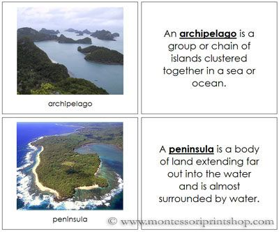96 best Land and Water Forms images on Pinterest | Montessori ...