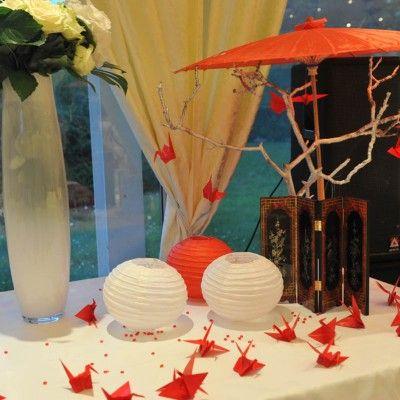 Theme Japon Mariage PL decoration table urne g image in