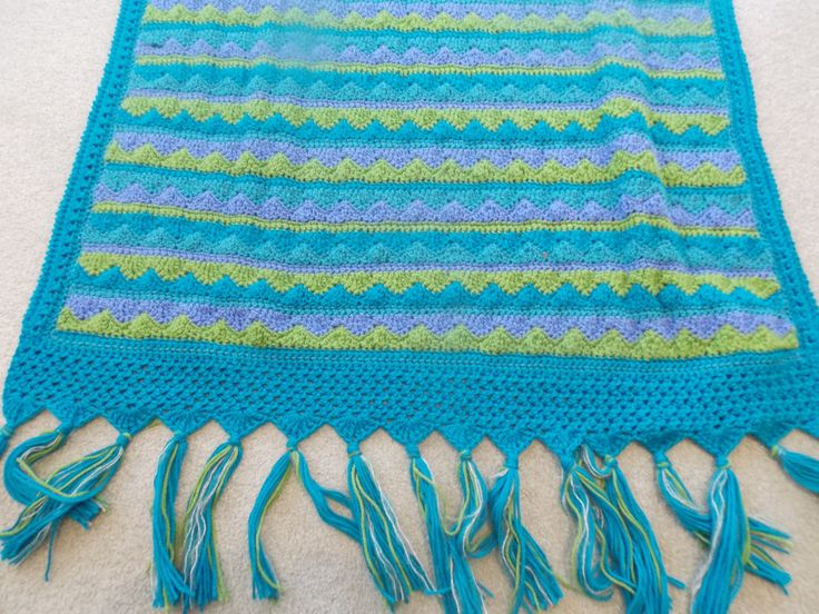 🌊 Pacífica Artesanal Crochê Arremesso Cobertor no por do Arco-íris Crochetar Pássaro -  /  🌊 Pacifica Handmade Crochet Throw Blanket in by Rainbow Bird Crocheted -