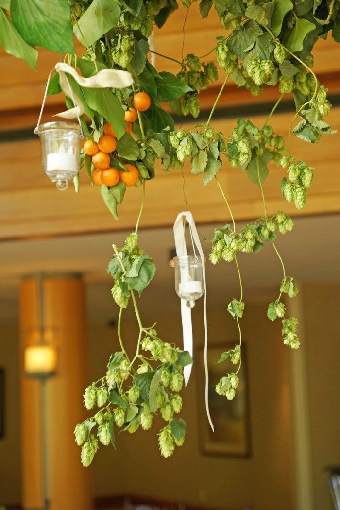 Floral Chandeliers   Snowbird Summer Wedding By Amber Shaw Photography    Via MountainsideBride.com