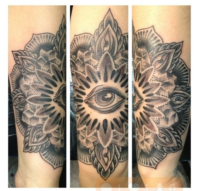 Mehndi Eye Tattoo : All seeing eye mandala tattoo mehndi
