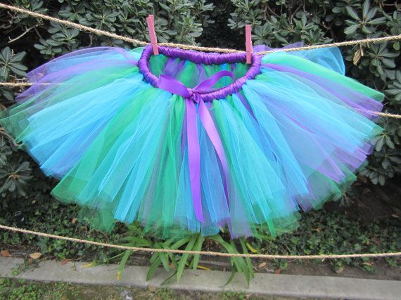 Little Mermaid Tutu Ariel Tutu Monsters Inc Tutu by PiaMiaBoutique, $25.00
