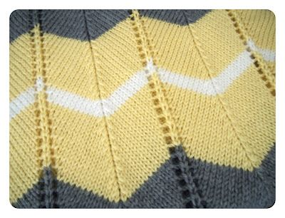 She Is Crafting My Doom: Striped Chevron Baby Blanket - Free Knitting Pattern!