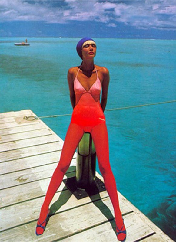 Vogue Italia, May 1976 swimwear Photo by David Bailey