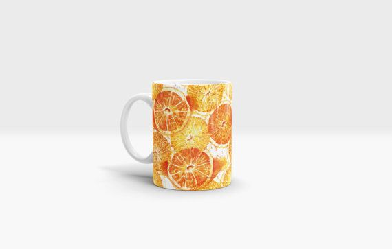 Oranges Mug. 11oz Ceramic Mug. by NJsBoutiqueCo on Etsy