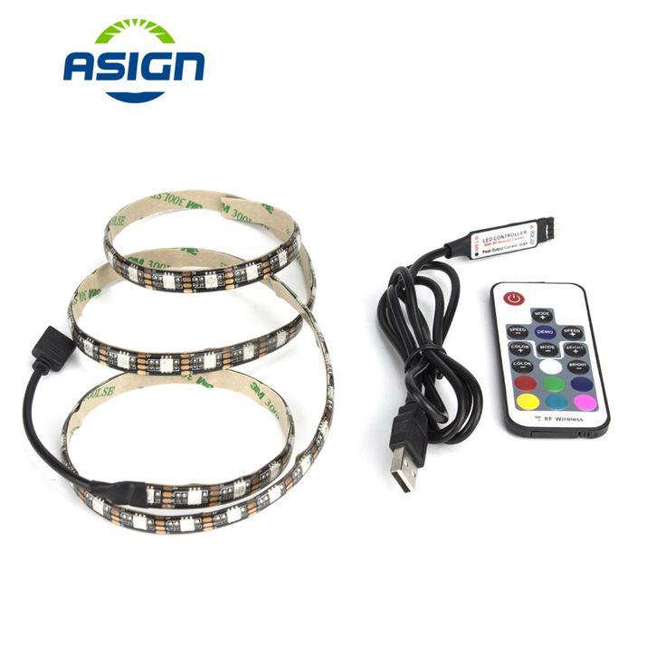 IP65 IP20 50cm 1m 2m 3m 4m 5m DC 5V RGB Flexible USB LED Strip Light 5050 SMD string Ribbon Adhesive tape TV Background lighting #Affiliate