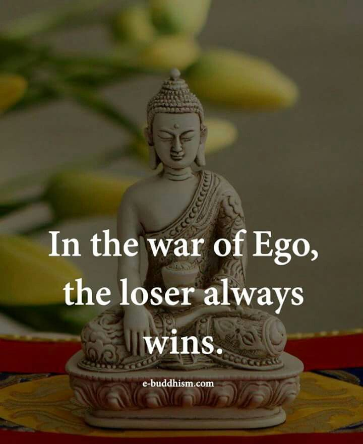 Ego too much kills too little does too....