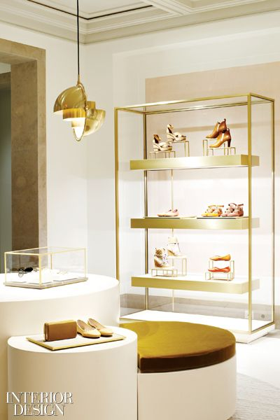 Love the shoe display (custom drum tables) at the Chloe flagship store in Paris.