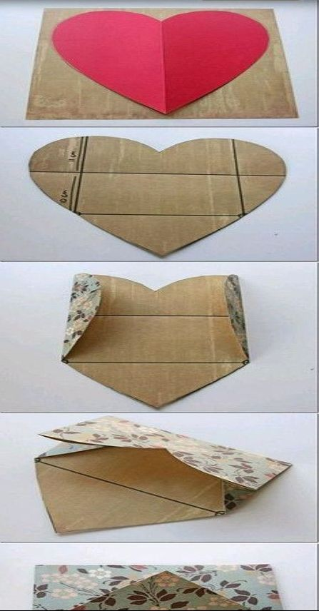 You can make an envelope from a heart shape.