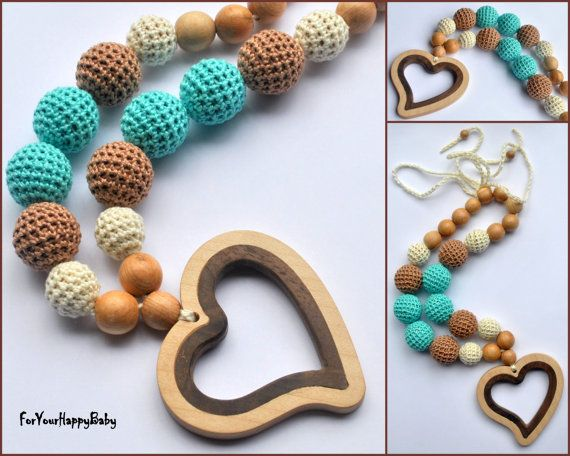 Nursing necklace  / Teething necklace / by ForYourHappyBaby