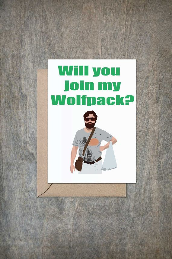 Will You Join My Wolfpack. Will You Be My by CrimsonandCloverGift