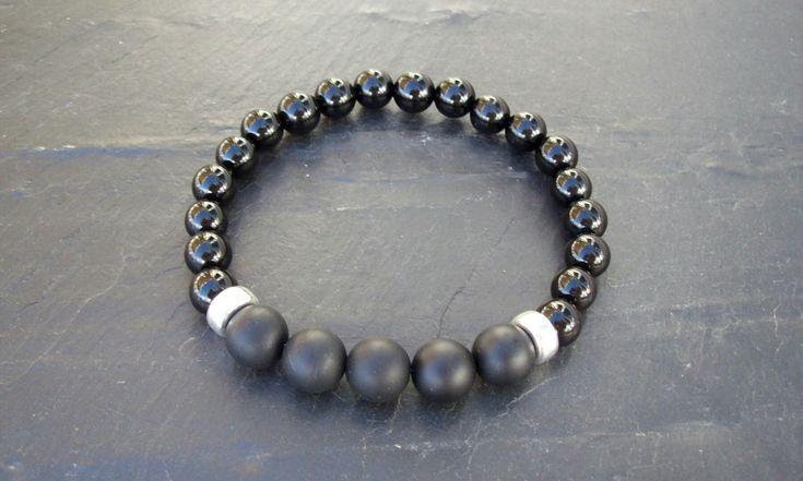 Voici ce que je viens d'ajouter dans ma boutique #etsy: Bracelet homme, Argent 925, Bracelet hommes perle, Cadeau pour lui, Bracelet onyx (grade AAA), Bracelet argent 925, Bracelet hommes, argent http://etsy.me/2EBeX5x