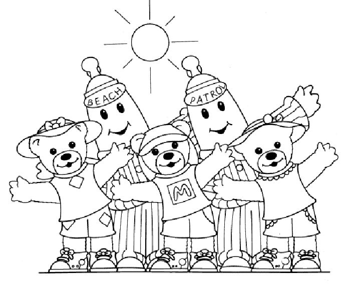 Bananas in pyjamas Coloring Pages - Coloringpages1001.com