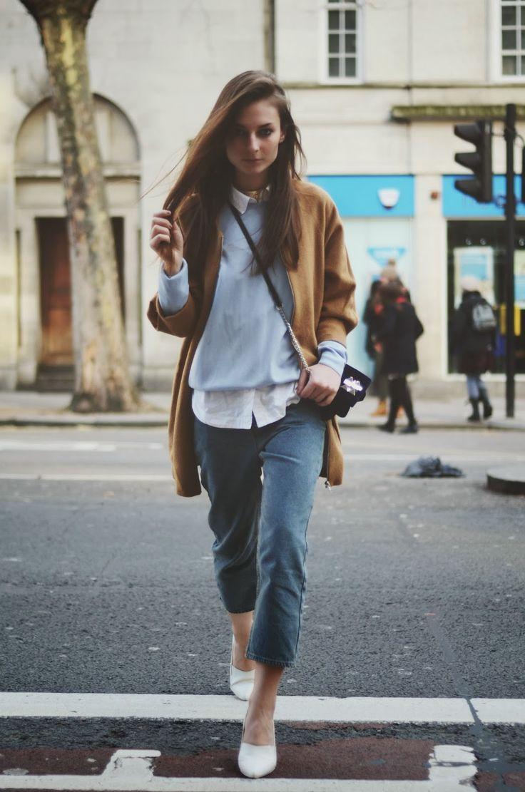 HOKK FABRICA coat | MARKS & SPENCER jumper | BENETTON shirt | CHEAP MONDAY jeans | H&M shoes | ZARA bag.