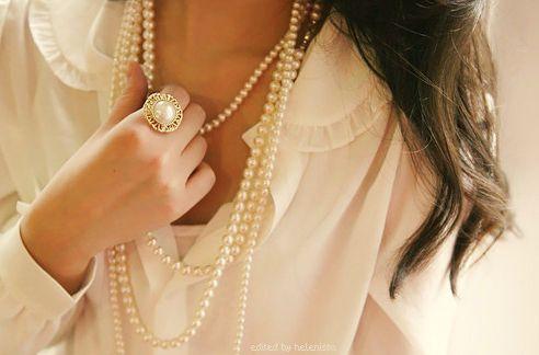 pearls and chiffon