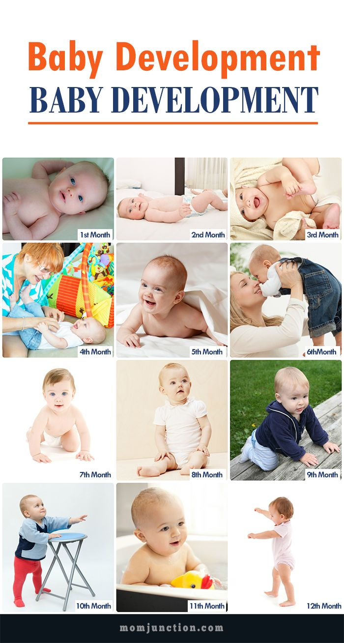 #Baby Development Month By Month: You can look forward to your baby reaching many milestones in the first 12 months like crawling, babbling, teething and grasping. If your baby can reach one milestone sooner