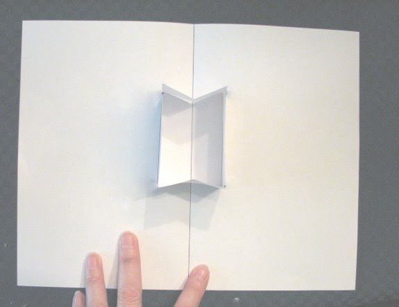 How to make pop ups, Lesson 18, Open Top Box. Tutorial series on how to make pop up cards.