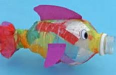 under the sea crafts - might be able to figure this out (no link). Great use for all those little water bottles!