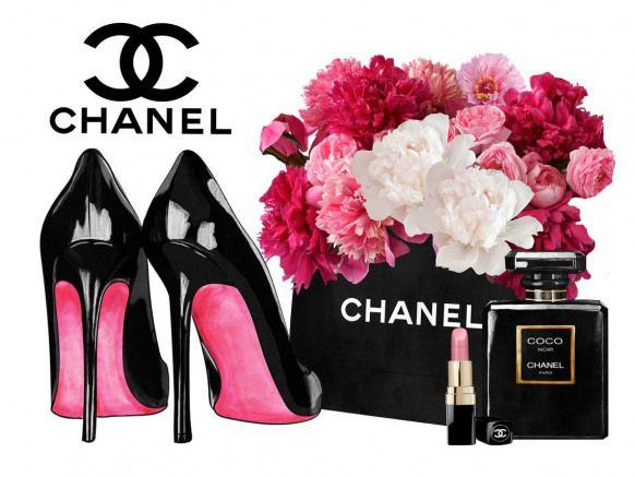 Fashion Wall Art Canvas Wall Art Fashion Prints Fashion Etsy Wall Wall Dibujo Chanel Art Art Deco Fashion Chanel Art Print
