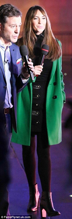 Attention to detail: Her outfit choice was styled further with a tiny black number and lea...