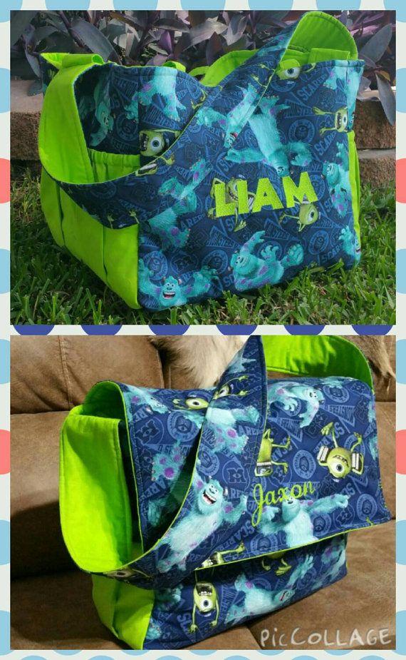 Monsters Inc Diaperbag Custom Diaper Bag Monsters by ShaysStore