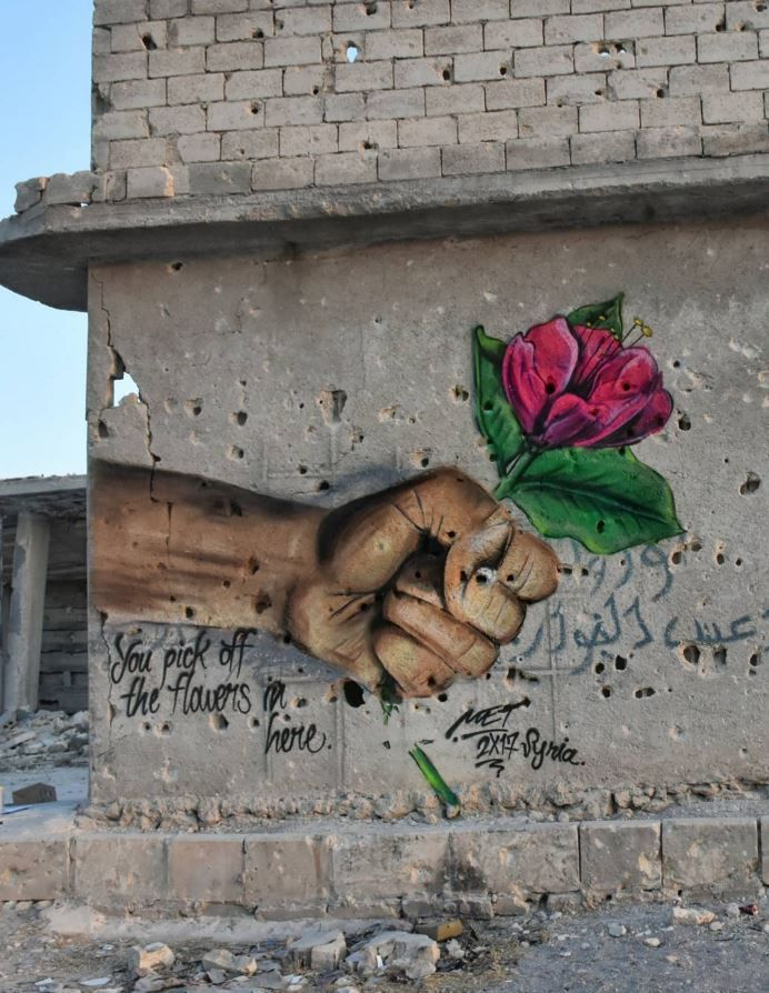You picked off the flowers in here, Syria by @meturkmen