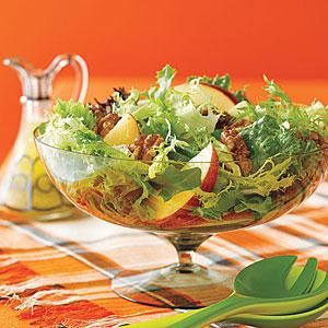 Green Salad with Apples and Toasted Walnuts | MyRecipes.com