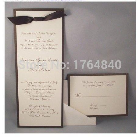 Goedkope pocketfold huwelijksuitnodigingen kaart portret stijl met rsvp kaart inserts envelop ontwerp op maat gratis, koop Kwaliteit wenskaarten rechtstreeks van Leveranciers van China: Product beschrijving:Materiaal: papierGrootte: 15* 15cmKleur: zilverType: pocketfold bruiloft uitnodigingEen set bestaat