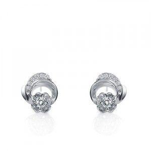 Affordable Diamond Earrings on 10K White Gold