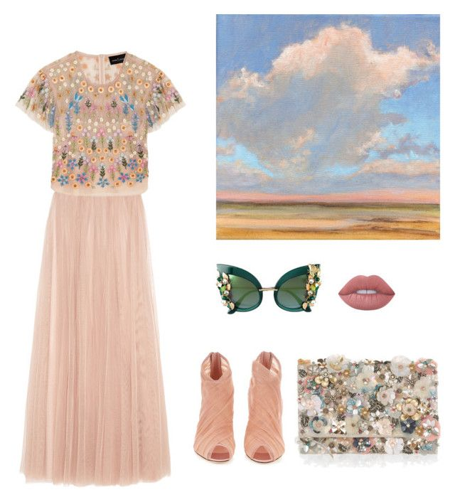 """Romantic Sunset"" by mariapauladiaz142 on Polyvore featuring Needle & Thread, Accessorize, Dolce&Gabbana and Lime Crime"
