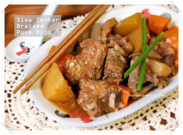 Apr 29 - Slow Cooker Braised Pork Ribs