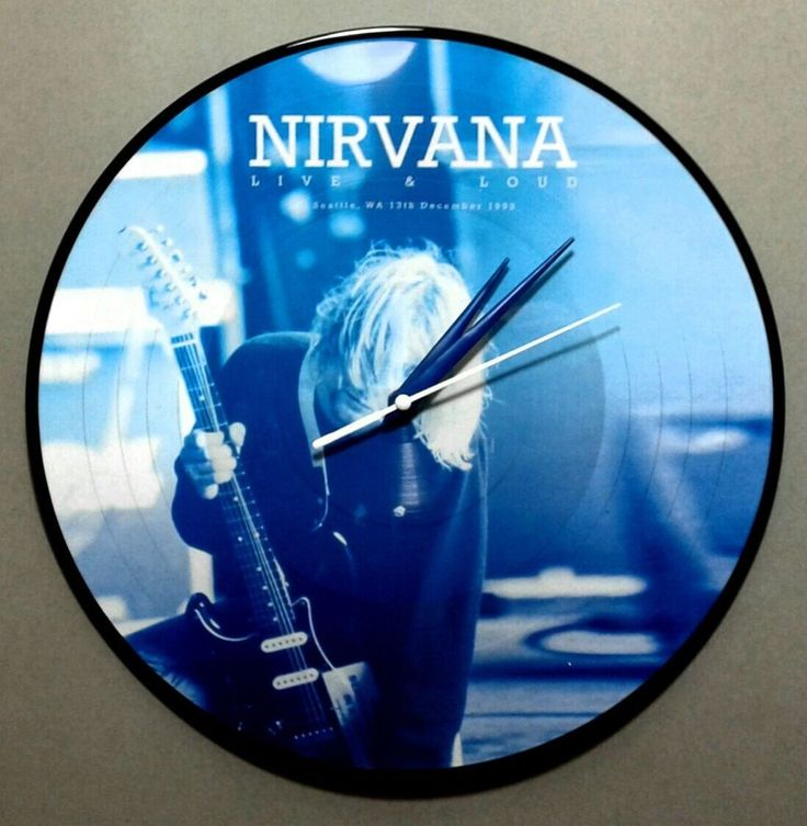Nirvana Limited Edition 140 gram Live & Loud Picture Disc Wall Clock #1990s
