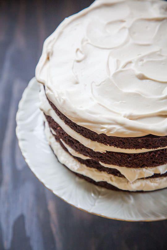 Irish Drunken Cake, a Guinness Chocolate Cake with Irish Whiskey and Irish Cream. Photo and Recipe by Irvin Lin of Eat the Love. www.eatthelove.com