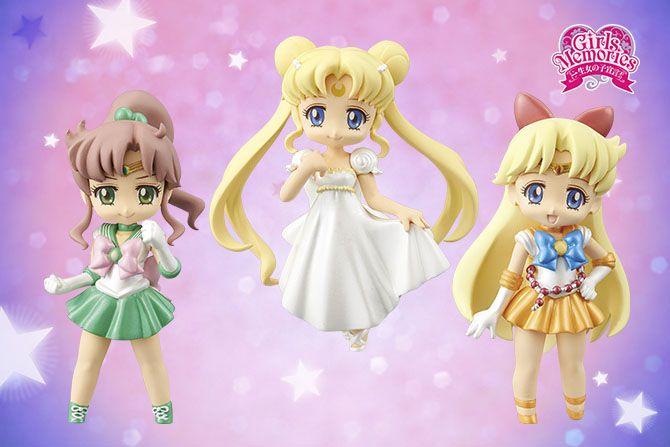 """sailor moon crystal"" ""sailor moon"" ""sailor moon figures"" ""sailor moon toys"" ""sailor moon dolls"" ""sailor moon 2015"" sailor jupiter venus ""princess serenity"" chibi anime japan banpresto toy figure"