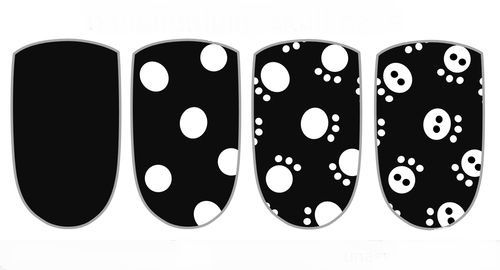 Uñas sencillas con calaveras | Decoración de Uñas - Manicura y NailArt