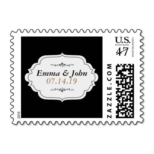 Elegant Save the Date Postage