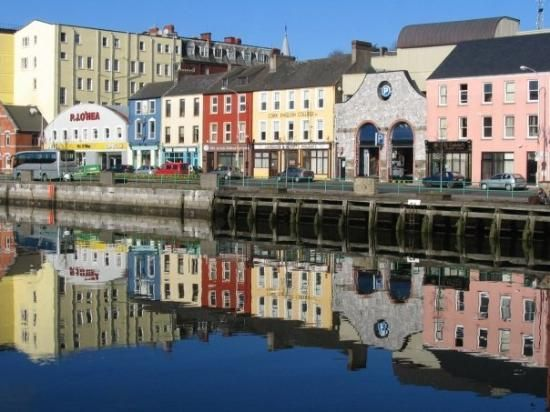 Cork, Ireland.  The colorful houses were awesome.