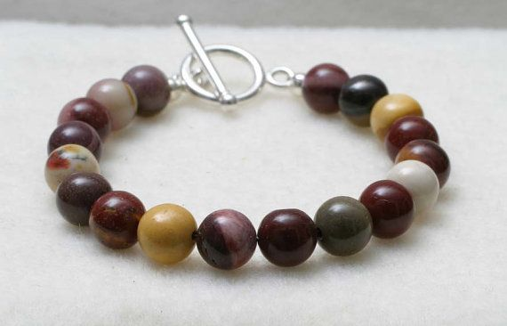 Mokite Gemstone and Sterling Silver Toggle Clasp by BeccsCreations, $38.00