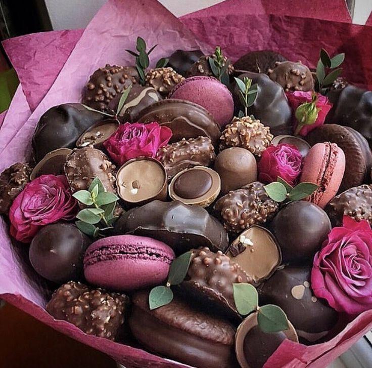 ключевых картинки с цветами и шоколадками особенность