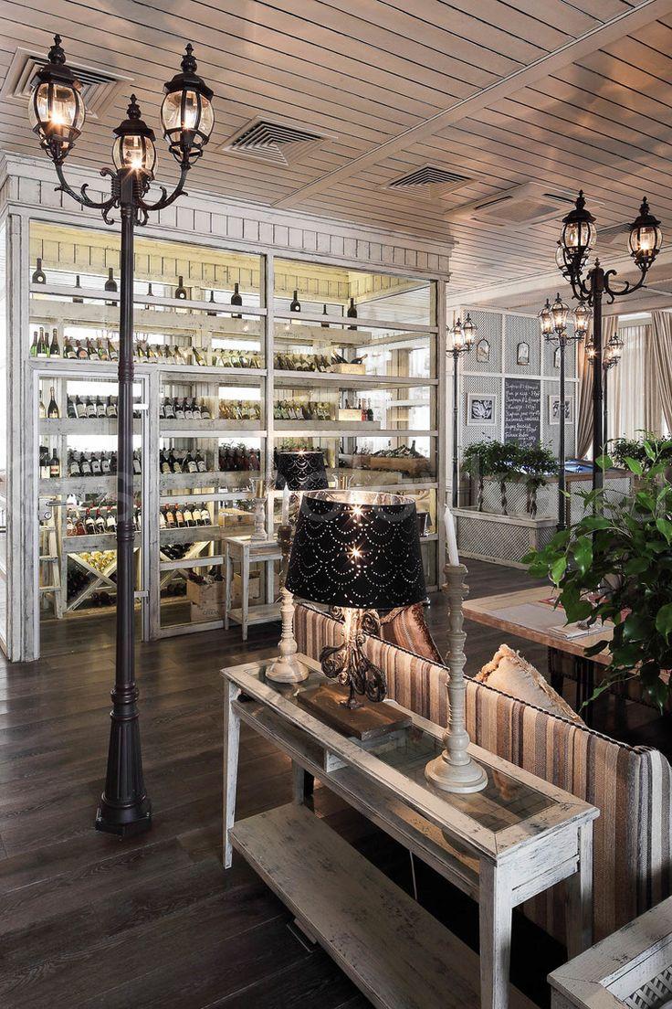 Florentini - интерьер ресторана в стиле прованс, restaurant in country style