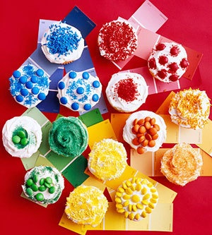 Cupcake color wheel. I don't know what event I could make these for, but I just know the opportunity will present itself.