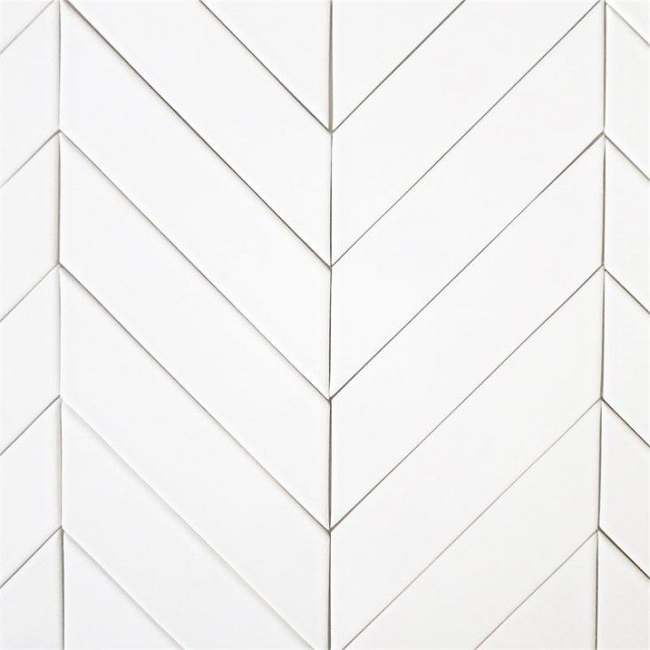Chevron subway tile | Remodelista