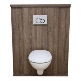 Meuble d'habillage ajustable BATICACHE® pour bâti-support wc, coloris Havane Mood