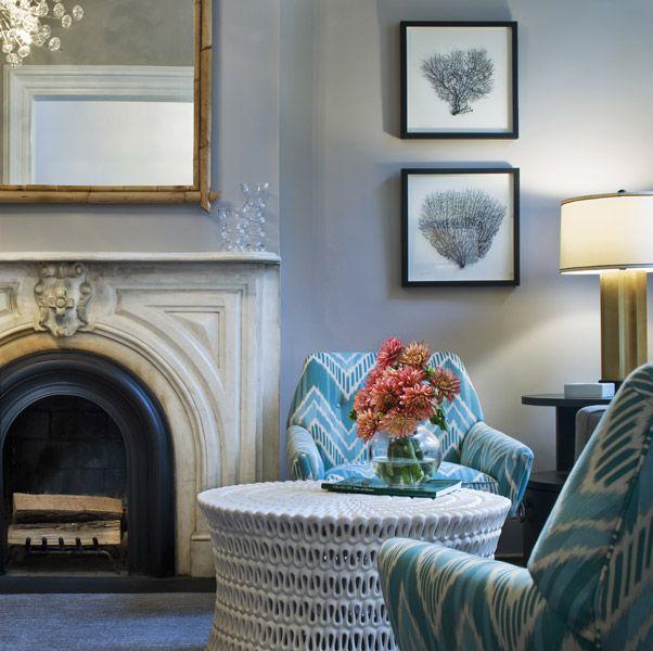 living room: Interior Design, Ideas, Livingrooms, Contemporary Living Room, Living Rooms, Cwb Architects, Gray, Fireplace