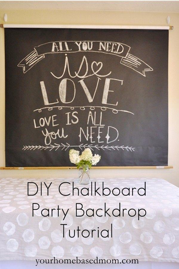 Captivating DIY Chalkboard Party Backdrop Tutorial Good Looking