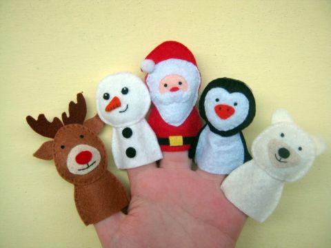 Ujjbáb csomag - Téli kedvencek, Baba-mama-gyerek, Játék, Baba-mama kellék, Báb, Meska